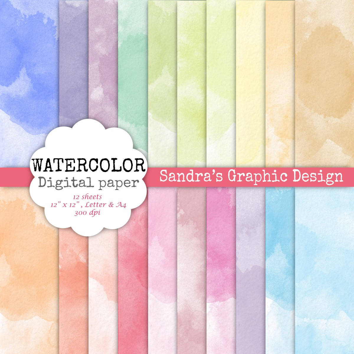 Soft image for printable watercolor paper